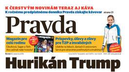 Pravda, titulná strana, titulka 10. november 2016