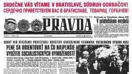 Pravda, titulná strana, titulka 11. apríl 1987
