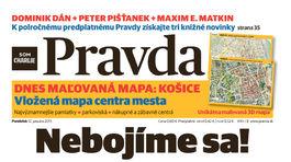 Pravda, titulná strana, titulka 12. január 2015