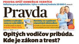 Pravda, titulná strana, titulka 12. júl 2014