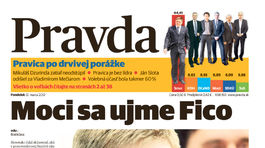Pravda, titulná strana, titulka 12. marec 2012