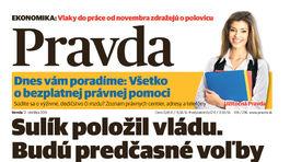 Pravda, titulná strana, titulka 12. október 2011