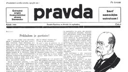 Pravda, titulná strana, titulka 14. september 1944