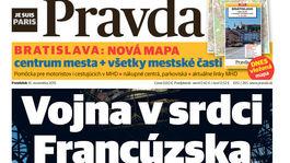 Pravda, titulná strana, titulka 16. november 2015