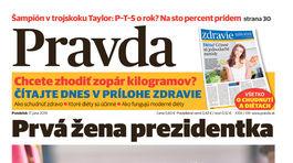 Pravda, titulná strana, titulka 17. jún 2019