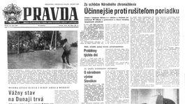 Pravda, titulná strana, titulka 18. jún 1965