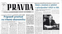 Pravda, titulná strana, titulka 2. január 1990