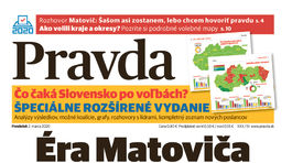 Pravda, titulná strana, titulka 2. marec 2020