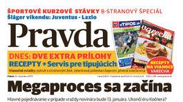 Pravda, titulná strana, titulka 20. december 2019