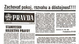 Pravda, titulná strana, titulka 21. august 1968