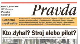 Pravda, titulná strana, titulka 21. január 2006
