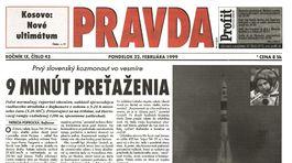 Pravda, titulná strana, titulka 22. február 1999