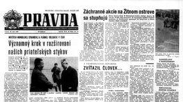 Pravda, titulná strana, titulka 22. jún 1965