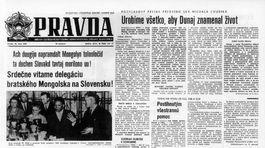Pravda, titulná strana, titulka 23. jún 1965