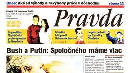 Pravda, titulná strana, titulka 25. február 2005