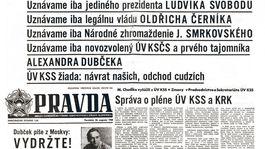Pravda, titulná strana, titulka 26. august 1968