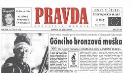 Pravda, titulná strana, titulka 26. júl 1996