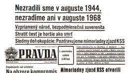 Pravda, titulná strana, titulka 27. august 1968