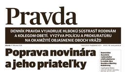 Pravda, titulná strana, titulka 27. február 2018