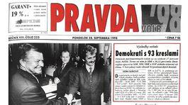 Pravda, titulná strana, titulka 28. september 1998