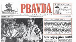 Pravda, titulná strana, titulka 29. júl 1996