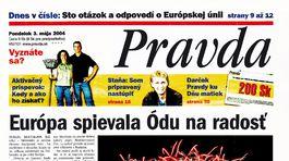 Pravda, titulná strana, titulka 3. máj 2004