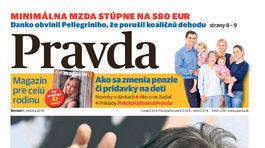 Pravda, titulná strana, titulka 3. október 2019