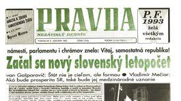 Pravda, titulná strana, titulka 4. január 1993