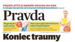 Pravda, titulná strana, titulka 6. apríl 2017