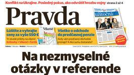 Pravda, titulná strana, titulka 7. február 2015