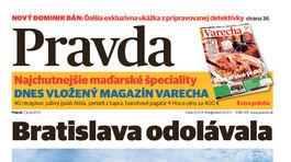Pravda, titulná strana, titulka 7. jún 2013