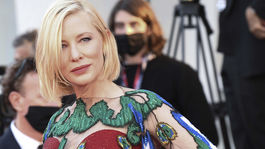 Herečka a prezidentka poroty Cate Blanchett na záverečnom ceremoniáli 77. ročníka MFF Benátky.