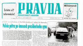 Pravda, titulná strana, titulka 2. september 1995