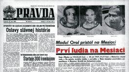 Pravda, titulná strana, titulka 21. júl 1969