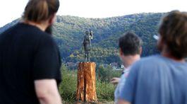 Slovenia Melania Trump Sculpture