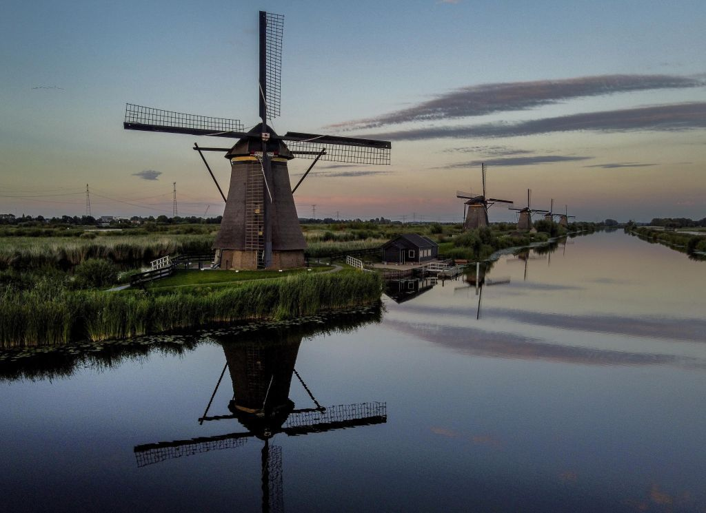 Holandsko, veterné mlyny