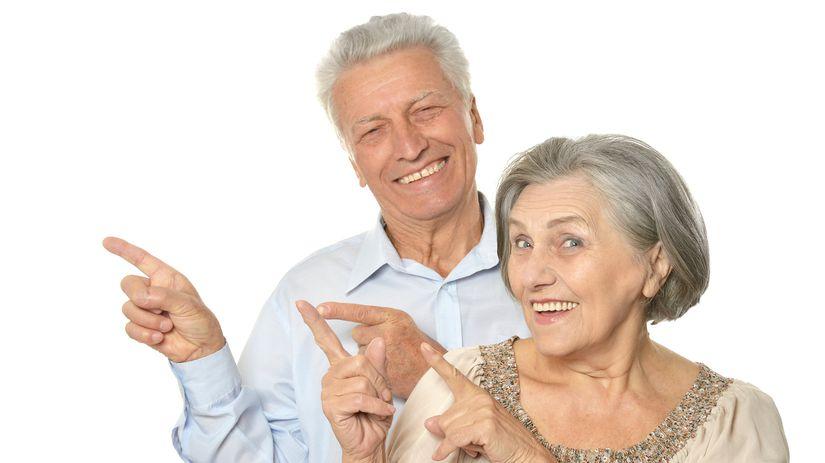 dôchodcovia, penzisti, manželia, radosť,...
