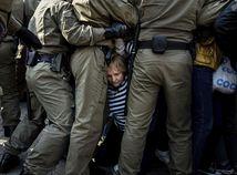 minsk bielorusko násilie polícia demonštrant protest