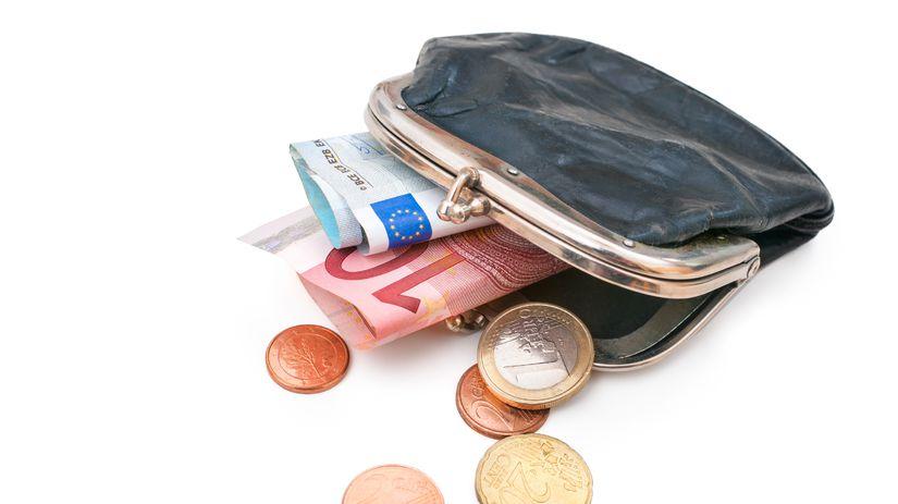 peňaženka, peniaze, euro
