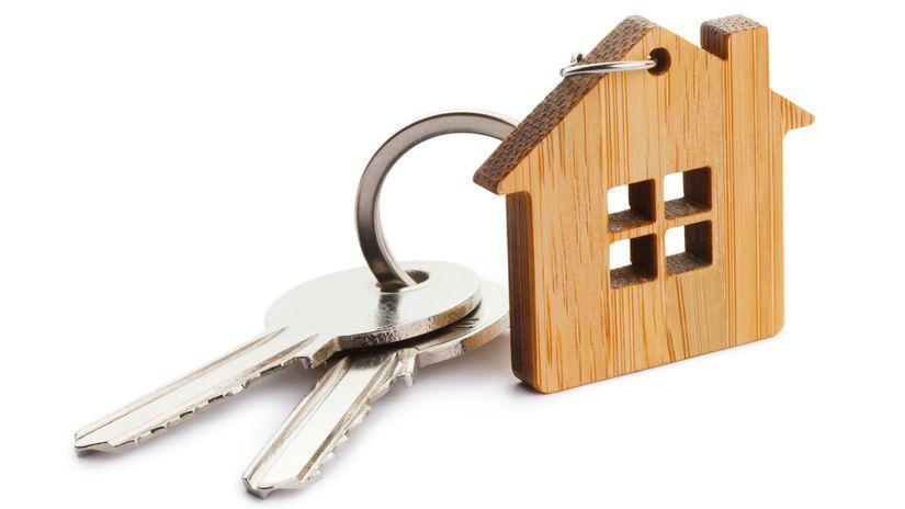 prívesok, domček, kľúče
