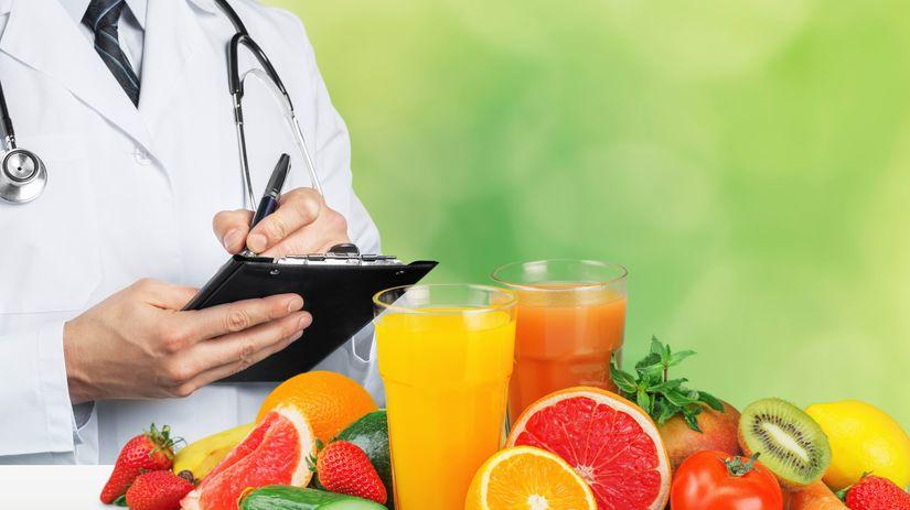 doktor, písanie, ovocie, zelenina, zdravá strava
