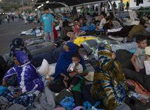 Grécko Lesbos migranti Moria tábor požiar