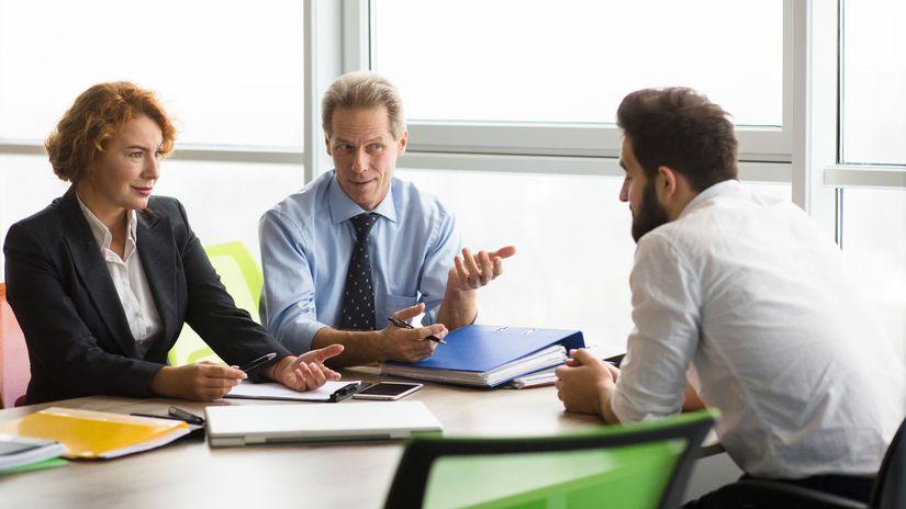 rozhovor, dohoda, partneri, kolegovia