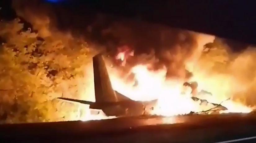Ukrajina, lietadlo, pád
