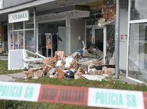 Košice, banka, bankomat, výbuch
