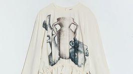 Dámska mikina s volánom a viazaním Zara, predáva sa za 49,95 eura.