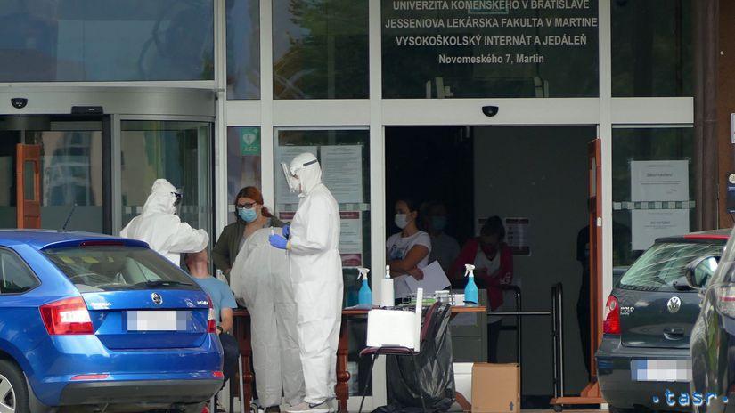 internát jedáleň koronavírus testovanie