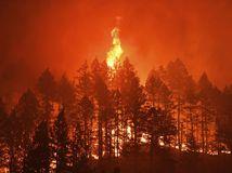 kalifornia usa požiar oheň les