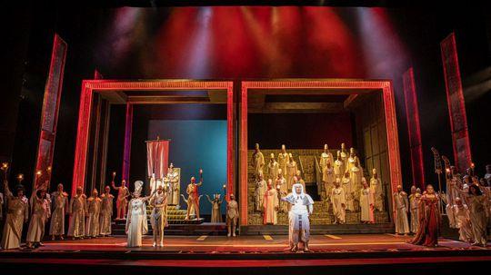 Scéna z Opery Aida.