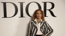 Marisa Berenson pred prehliadkou značky Dior.
